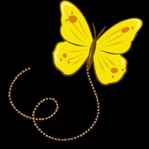 Zitronenfalter Schmetterling tanzt durch die Luft
