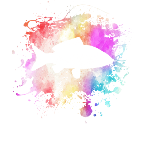 Fisch Im Farbklecks I Lustiges Fischer Geschenk