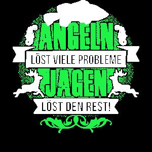 Angeln Jagen Geschenk T-Shirt Jäger Geschenkidee