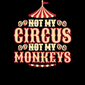 Nicht mein Zirkus, nicht das lustige Sprichwort meiner Affen