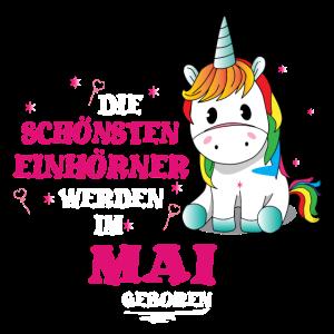 Spruch Geburtstag Mai Einhorn Unicorn Geschenk