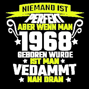 Jubiläumsgeschenk T-Shirt Geboren 1968 Jahrgang
