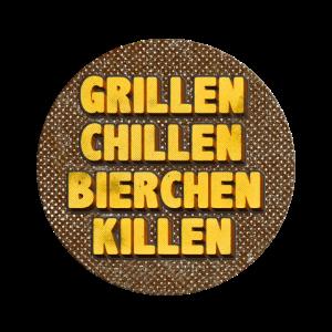 Grillen Chillen Bierchen Killen retro