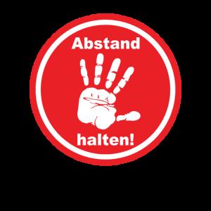 ABSTAND HALTEN Hand Warnschild Warnung Achtung