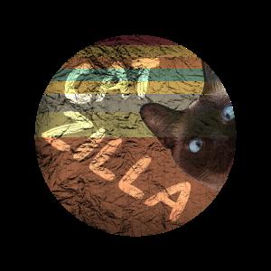 Catzilla Retro Katze