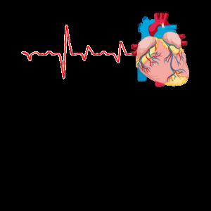 Herzanatomie Kardiologen Hemd