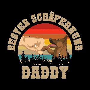 Schäferhund T-Shirt | Bester Schäferhund Papa