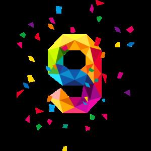 Geburtstag birthday 9 neun