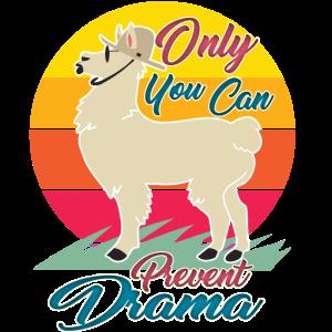 Nur Sie können Drama verhindern - kein Drama Lama Retro