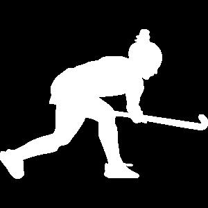 feldhockey silhouette spielerin