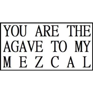 Tu es l'agave de mon mezcal