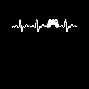 Herzschlag Gamecontroller Motiv