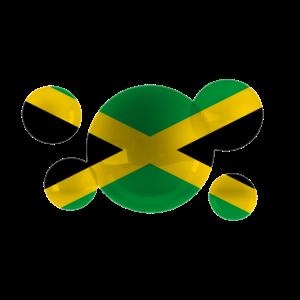 Jamaika kennzeichnet Blasen