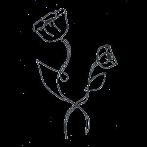 Klassisches black and white Flower Design