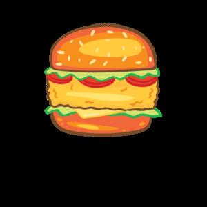 Chicken Burger Lustiger Hühner Burger
