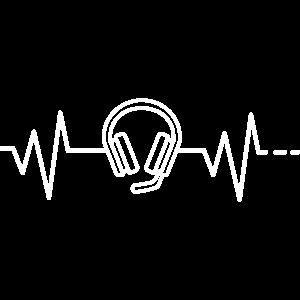 Herzschlag Headset Kopfhörer Mikrofon Home Office