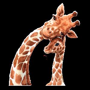 Giraffe Großer Bruder Große Schwester