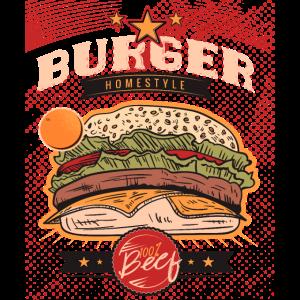 Bestes Burger Design für Beef Burger BBQ Fans