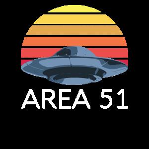Area 51 Shirt Retro UFO Vintage Alien