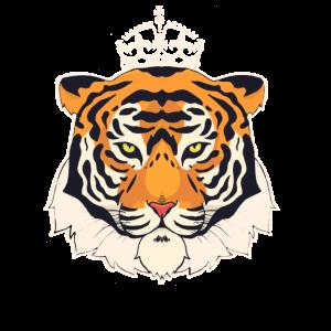 Tiger Kopf mit Krone,König Redneck Raubtier Shirt