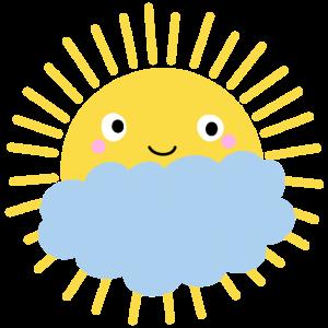 Sonne Wolke Spruch Sommer