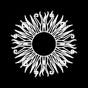 Sonne Hippie weiß