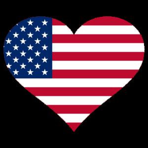I Love USA - United States of America - Flag