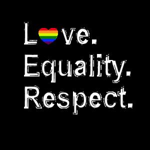 LGBTQ Love. Equality. Respect.