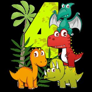 4 Jahre alt Geburtstag Junge vier 4. Dino T-Rex