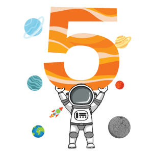 Astronaut 5. Geburtstag Weltraum Für Jungen