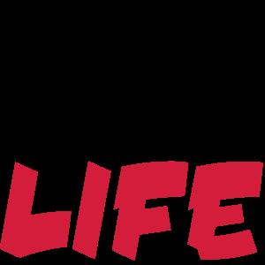 Anime ist Leben schwarz