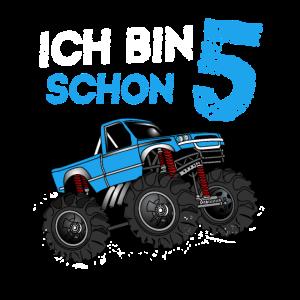 Kinder 5. Geburtstag Geschenk Monster Truck 5