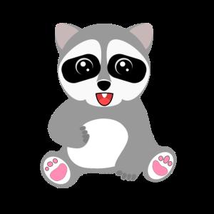 Baby Waschbär Illustration Geschenk