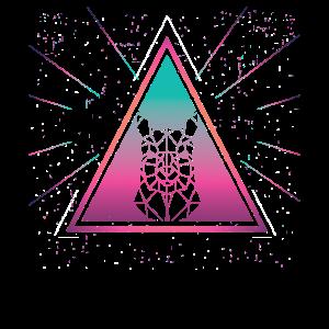 Bunter Alpaka-geometrischer Dreieck-Retro-Stil