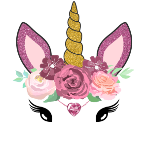 Einhorn Gesicht Mit Blumen Für Damen Kinder