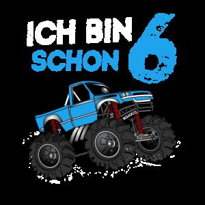 Kinder 6. Geburtstag Geschenk Monster Truck 6 Jahr