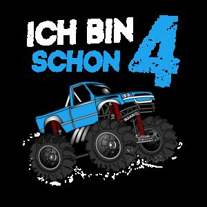 Kinder 4. Geburtstag Geschenk Monster Truck 4 Jahr