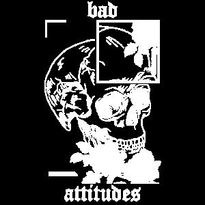 Schädel Totenkopf bad attitudes Skull