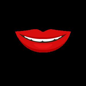Mund Nase Gesichtsmaske rote Lippen Kussmund