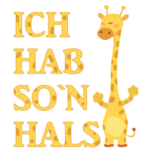 Giraffe Hals Hals Tiere Kind Geschenk Geschenkidee