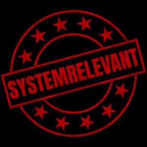 Systemrelevant Stempel Beruf Corona Virus Pandemie