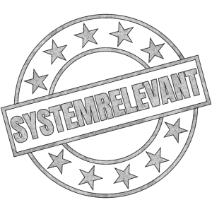 Systemrelevant Stempel Corona Virus Pandemie Beruf