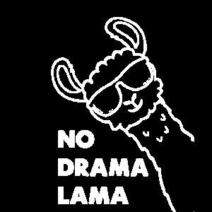 No Drama Lama Spruch Lustiges Alpaka Geschenk