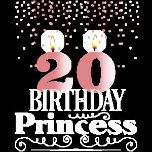 20 Jahre Geburtstag Geschenk Birthday Princess