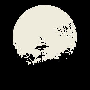 Silhouette Die Wiese