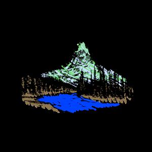 See vor einer Waldl-Berg-Landschaft