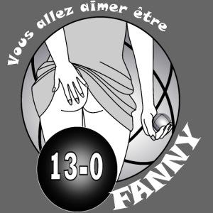 pétanque baiser les fesses de Fanny fond sombre