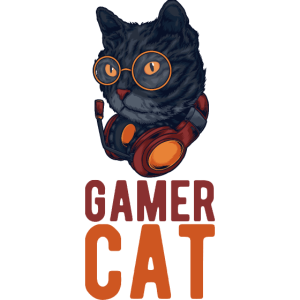 Gamer Cat Katze Katzen Zocken Zocker