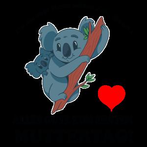 Muttertag Koalamama Muter Kind Herz Spruch Ersten