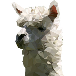 Lama - Alpaca - Polygonmotiv